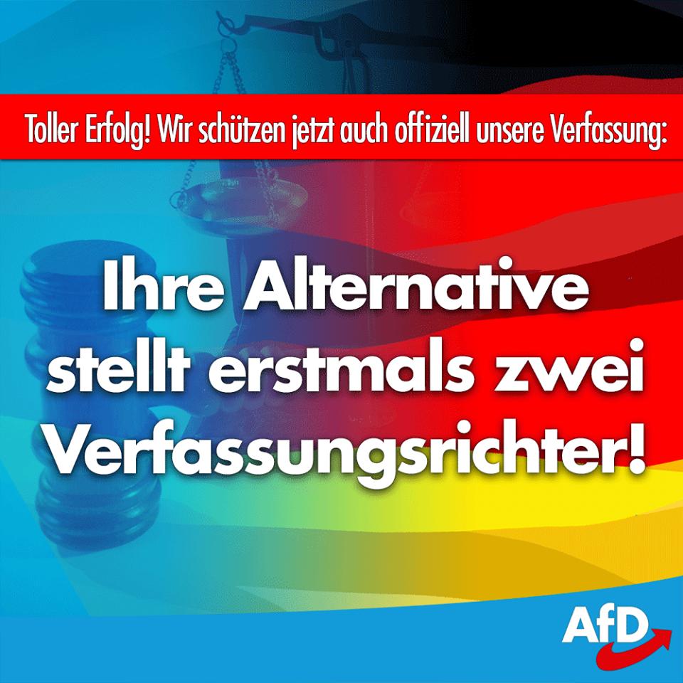 ++ Wir schützen jetzt auch offiziell unser Grundgesetz: Vier AfD-Politiker als Verfassungsrichter vereidigt ++