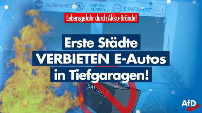 Wegen Brandgefahr: Erste Städte sperren Tiefgarage für E-Autos!