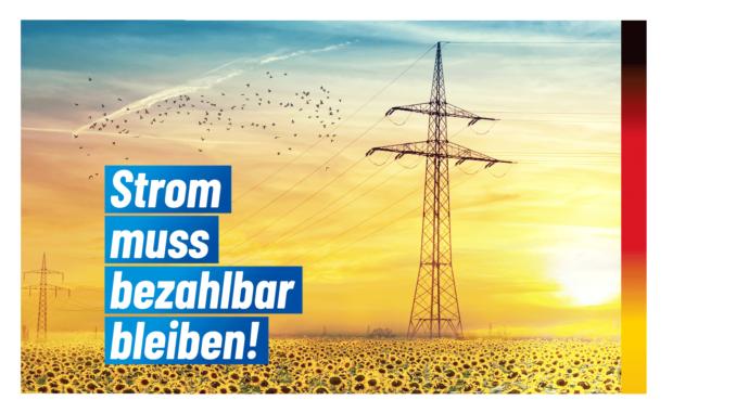 Strompreise müssen auch 2030 noch bezahlbar sein!